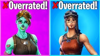 10 MOST OVERRATED FORTNITE SKINS (skins u only like cuz theyre rare)