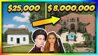 YouTubers Homes Then and Now!! (ACE Family, Roman Atwood)