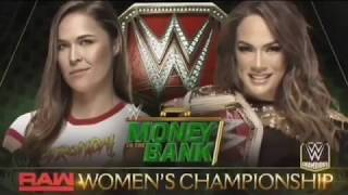 WWE Money in the Bank 2018 Nia Jax vs Ronda Rousey Official Match Card