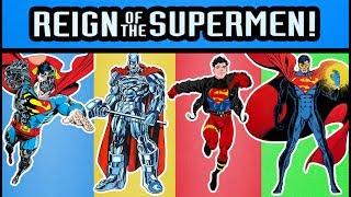 DC Comics DCUC Reign of Supermen Eradicator, Steel, Superboy, and Cyborg Superman Action Figures
