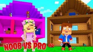 Minecraft NOOB VS PRO : DOLLHOUSE in Minecraft!