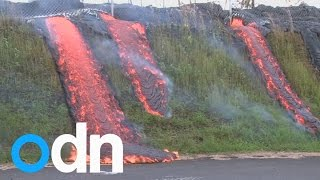 Incredible footage shows lava flow sweeping across Hawaii