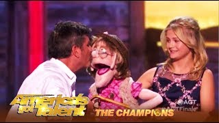 Darci Lynne SHIPS Simon Cowell & Edna The Puppet!   AGT Champions