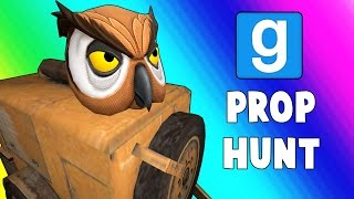 Gmod Prop Hunt Funny Moments - Giant Paint Cans! (Garry