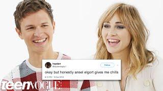 Ansel Elgort & Suki Waterhouse Compete in a Compliment Battle   Teen Vogue