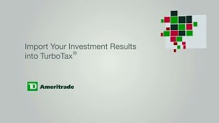 Import Your Investment Results into TurboTax®