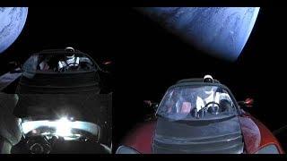 UFO Fleet caught near Tesla Roadster in Space