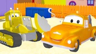 Tom der Abschleppwagen und die Planierraupe in Autopolis | Lastwagen Bau-Cartoon-Serie für Kinder