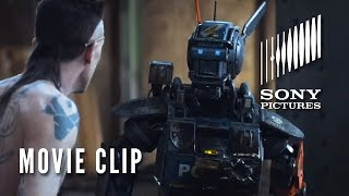 """CHAPPIE Movie Clip - """"Real Gangster"""""""