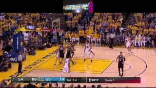 Golden State Warriors Amazing 25pt comeback vs. San Antonio Spurs (NBA Playoffs WCF , Game 1) 2017