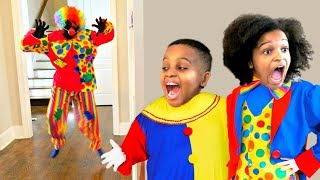 Bad Baby Scary Clown ATTACKS Mannequin - Shasha and Shiloh - Onyx Kids