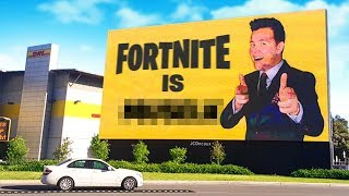 Buying the BIGGEST Billboard In Sydney For Fortnite!