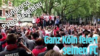 1. FC Köln zieht in Europa League ein: Ausnahmezustand in Innenstadt, ganz Köln und Fans jubeln