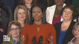 Watch first lady Michelle Obama