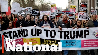 Global protests against Trump