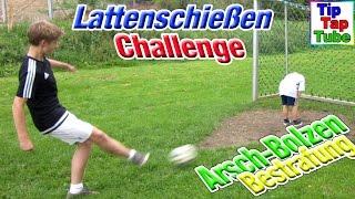 Fußball Challenge Lattenschießen mit Arschbolzen Bestrafung TipTapTube Kinderkanal