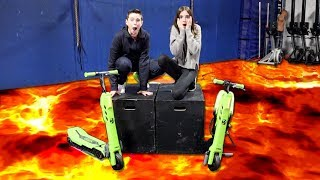 THE FLOOR IS LAVA CHALLENGE!! (Scooter Edition)