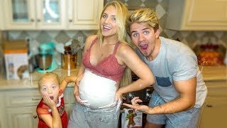 We Made a Pregnant Belly Cast of Baby P!!! (This was insane...)