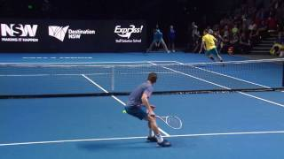 Thiem nails a behind the back winner - Fast4 Sydney