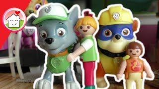 Paw Patrol deutsch Mit dem Bagger am Teich - Baustelle - Playmobil Film deutsch von Family Stories