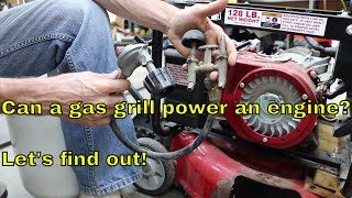 Can a gas (propane) grill power an engine?  Let