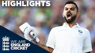 Virat Kohli Scores 1st Test Century In England | England v India 1st Test Day 2 2018 - Highlights