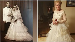 60 Years After This Woman Got Married, She Put On Her $69 Wedding Gown One More Time
