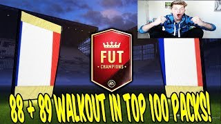 FIFA 18 - 88 + 89 WALKOUT in TOP 100 FUT CHAMPIONS PACK OPENING! 🔥💎🔥 Ultimate Team Deutsch