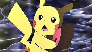 Pokemon Sun & Moon - Ash & Pikachu one hits Nihilego/Uturoid (Super Full-Force 10,000,000 Volts)