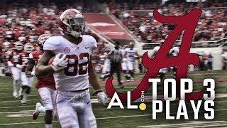 Top 3 Plays: Alabama vs Arkansas 2018