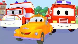 Tom der Abschleppwagen  und Polizeiauto, Feuerwehrauto, Krankenwagen, Müllauto in Autopolis
