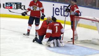 Luongo checked out after taking stick to the face