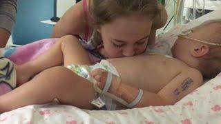 Das Mädchen pustet auf den Bauch ihrer kranken Schwester - Es geschieht das Unmögliche!