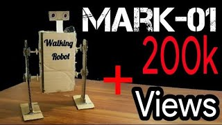 How To Make A simple walking Robot from Cardboard The Dancer