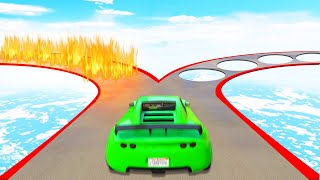Which ROUTE Is The SAFEST?! (GTA 5 Funny Moments)