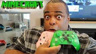 TRYING Xbox One Wireless Controllers: MINECRAFT EDITION [Creeper & Pig]