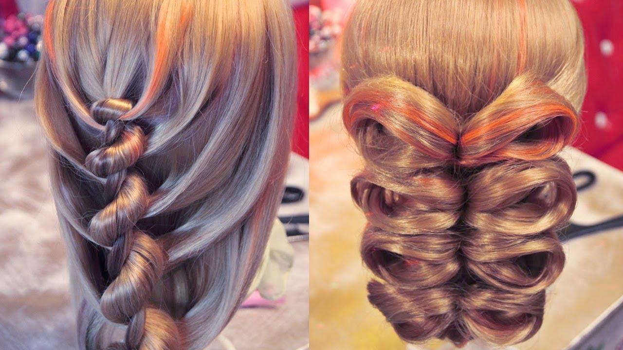 Прически необычные своими руками на длинные волосы
