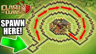 "Clash Of Clans - INSANE ""NO NAME"" TROLL BASE!! - CAN IT BE BEATEN!?!"