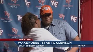 Wake Forest football star Lawrence picks Clemson