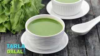 Low Cal Spinach Soup by Tarla Dalal