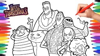 Hotel Transylvania 3 Summer Vacation Coloring Pages for Kids, Dracula Blobby Dennis Frank