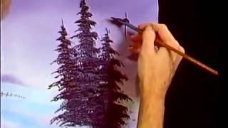Bob Ross -  Malerei Purpur Kiefer - Malerei Video