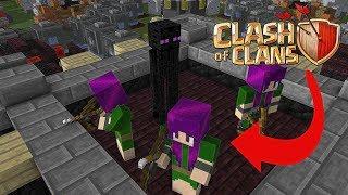 Monster School: Attacking Clash Of Clan Village - Minecraft Animation