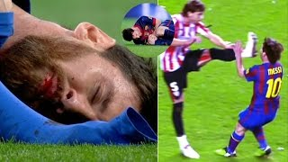 Players Hunting on Lionel Messi ● Horror Tackles ● Brutal Fouls   HD