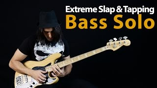 Extreme Slap & Tapping Bass Solo by Miki Santamaria (The Bass Wizard)