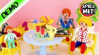 Playmobil deutsch   NEUE GARTENMÖBEL für FAMILIE VOGEL   Demo Spiel mit mir Kinderspielzeug