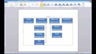 Creating a sitemap using Microsoft Word SmartArt