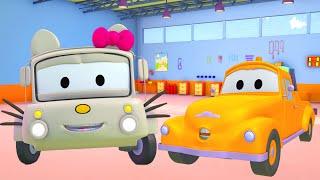 Hallo Lily Kitty - Die Lackierwerkstatt von Tom dem Abschleppwagen🎨 l Lastwagen Cartoons für Kinder