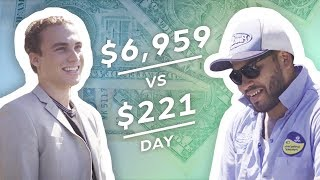 Earning $7,000 vs $220 in a Day: Real Estate Agent & Pool Cleaner