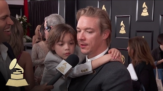 Diplo | Red Carpet | 59th GRAMMYs